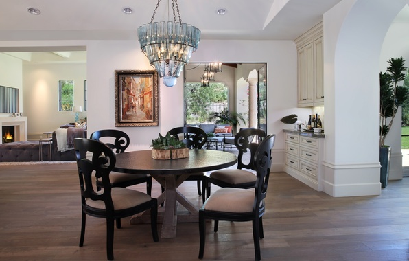 Picture photo, Design, Plant, Table, Chandelier, Interior, Living room, Chairs