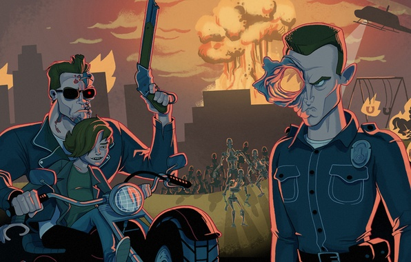 Picture Terminator 2, Arnold Schwarzenegger, Arnold Schwarzenegger, Judgment Day, Terminator 2, Judgment day, Edward Furlong, Robert …