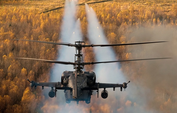 "Picture helicopter, the fire, Russian, Ka-52, shock, ""Alligator"""