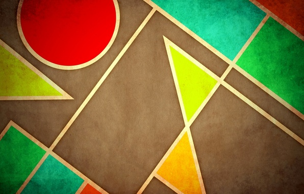 Picture line, color, round, figure, geometry, triangle