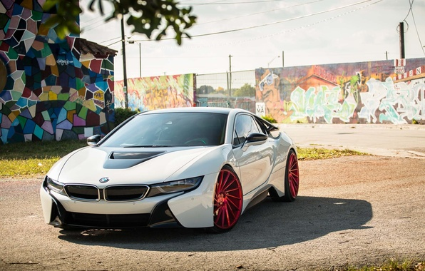 Picture bmw, wheels, tuning, face, vossen, street art