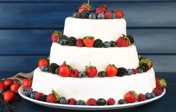 Picture berries, raspberry, blueberries, strawberry, cake, cake, cream, dessert, cakes, BlackBerry, sweet, sweet, dessert, berries