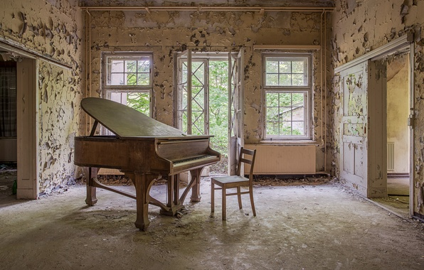 Wallpaper music, room, piano images for