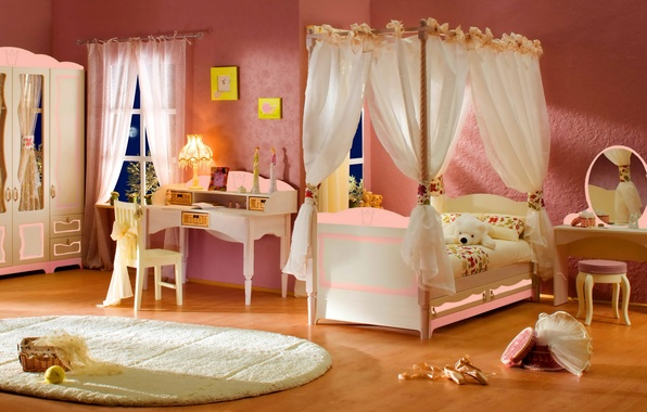 Picture design, style, table, room, toy, lamp, bed, interior, mirror, bear, bear, chair, bear, bedroom, canopy, …