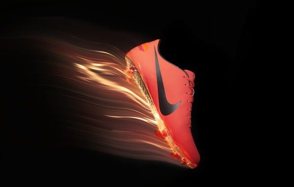 Picture orange, flame, spikes, sneakers, nike