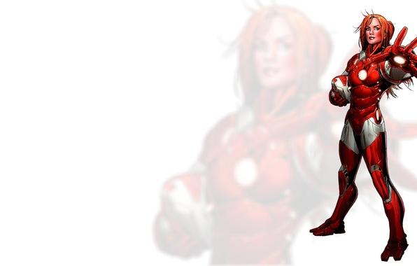 Picture girl, Iron Man, Comics, redheads