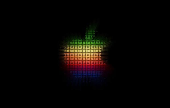 Picture apple, glow, minimalism, logo