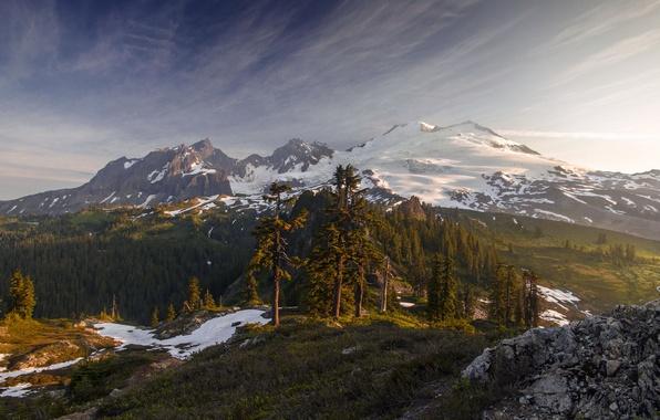 Picture Light, Morning, Mount Baker