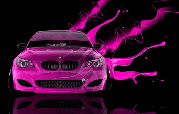 Picture Black, Pink, BMW, Pink, BMW, Wallpaper, Background, Car, Photoshop, Style, Wallpapers, Effects, 2014, Glamour, el …