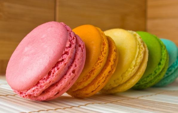 Picture color, rainbow, cookies, layer