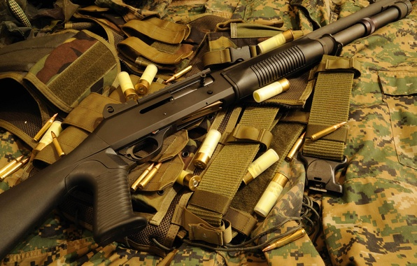 Picture weapons, the gun, camouflage, self-loading, smoothbore, store, Benelli M1014, (M4)