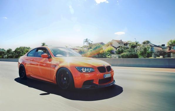 Picture BMW, Orange, Speed, BMW, E92, Fire Orange