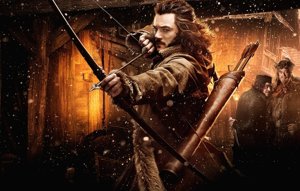 Picture bow, arrows, bow, The hobbit, The Hobbit, arrow, Luke Evans, Luke Evans, The Hobbit: The …