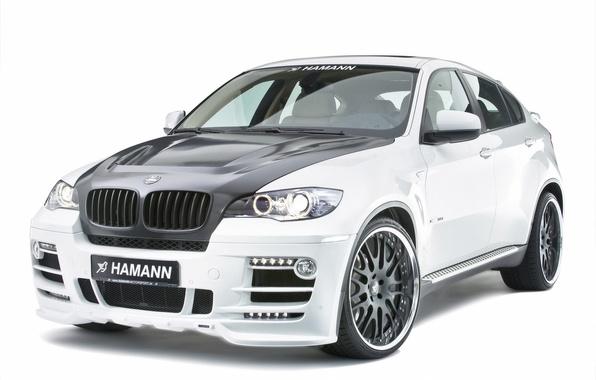 Photo wallpaper white, BMW, Hamann