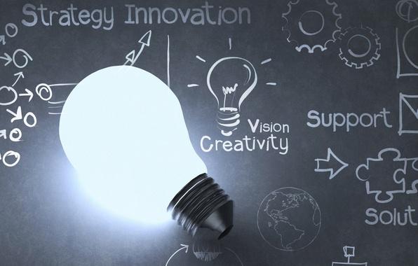Picture design, ideas, light bulb, creativity
