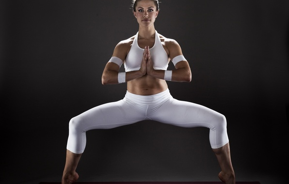 Picture girl, pose, sport, yoga