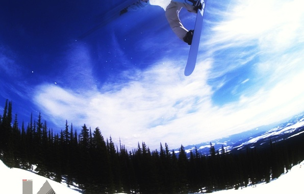 Picture winter, energy, snow, mountains, snowboard, snowboarding, the descent, sport, entertainment