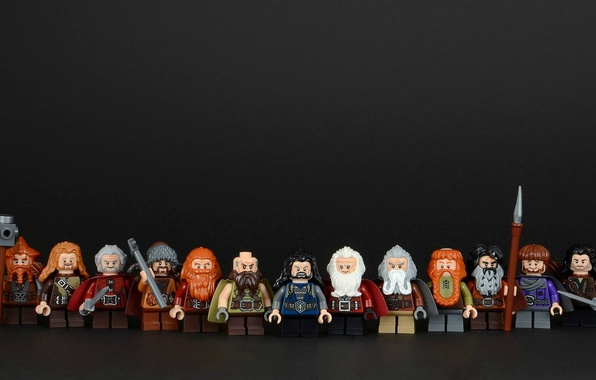 Picture background, LEGO, dwarves, figures, Lego, The hobbit, The Hobbit