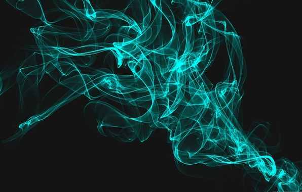 Picture Smoke, Blue, Abstraction