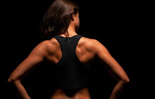 Wallpaper back muscles, women, fitness images for desktop ...