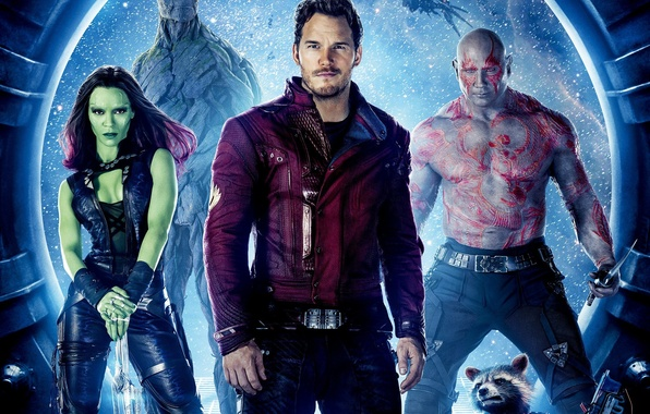 Picture rocket, Guardians Of The Galaxy, Star-Lord, Guardians of the Galaxy, groot, drax, gamora
