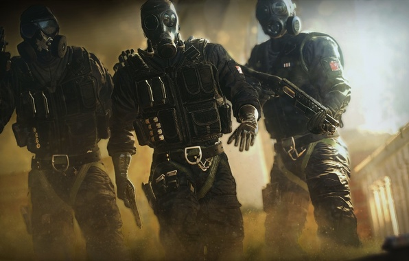 Picture Look, Smoke, Gas mask, Weapons, COP, Equipment, Ubisoft Entertainment, Police, Ubisoft Montreal, The vest, Tom …