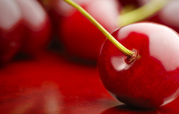 Picture macro, red, nature, cherry, fruit, fruit, cherry