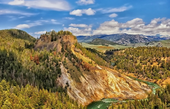 Picture landscape, mountains, United States, Wyoming