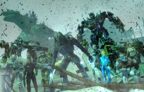 Picture starcraft, Halo, dead space, mass effect, Mass Effect, art, crysis, Alyx Vance, bulletstorm, transformers, optimus …