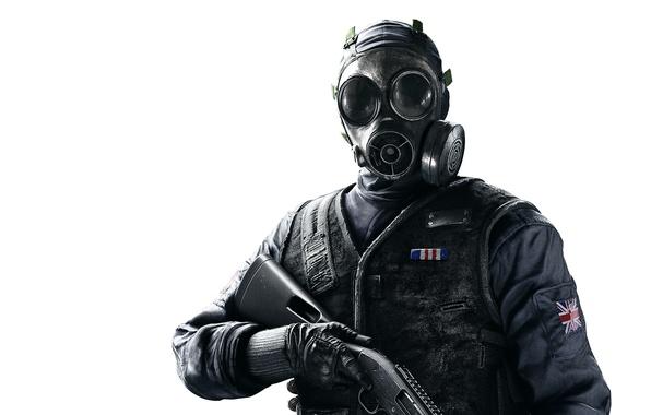 Picture Look, Gas mask, Weapons, COP, Shotgun, UK, Equipment, Ubisoft Entertainment, Police, Ubisoft Montreal, The vest, …