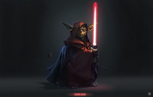 Picture fragments, power, Star Wars, Dark Side, Iodine, lightsaber, hoodie, levitation, Darth Yoda