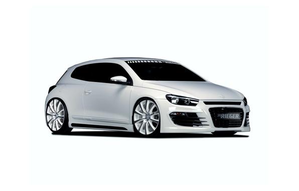 Picture white, tuning, Volkswagen, Volkswagen, Scirocco, 2013, Rieger, Sirocco