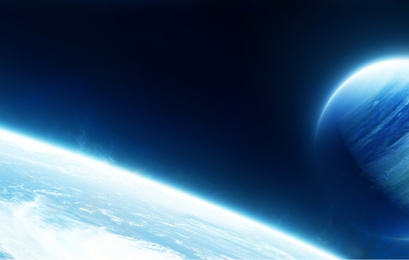 Picture space, clouds, planet, the atmosphere, satellite