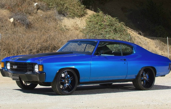 Picture blue, tuning, muscle car, chevrolet, tuning, chevelle, muscle cer