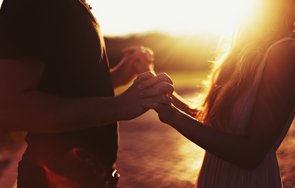 Picture girl, the sun, love, sunset, nature, background, power, Wallpaper, mood, woman, feelings, protection, hands, support, …