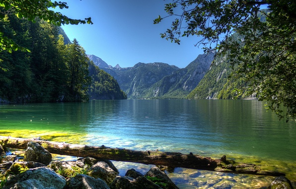 Picture water, landscape, nature, river, photo, Germany, Bayern, Berchtesgaden