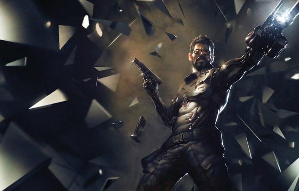 Picture weapons, figure, armor, cyborg, Square Enix, Adam Jensen, Adam Jensen, cyborg, Deus Ex: Mankind Divided, …