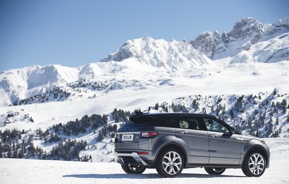 Picture car, the sky, mountains, Land Rover, Range Rover, car, sky, Evoque, suv, Autobiography
