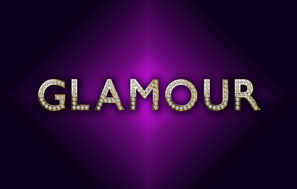 Wallpaper gold background glamour purple luxury letters diamonds design by marika images - Glamour background ...