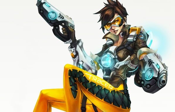 Picture girl, costume, blizzard, tracer, overwatch