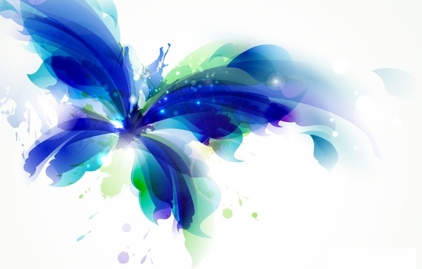 Picture color, abstraction, background, butterfly, paint