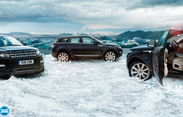 Picture the sky, clouds, snow, ice, Land Rover, range rover, top gear, top gear, top gear, …