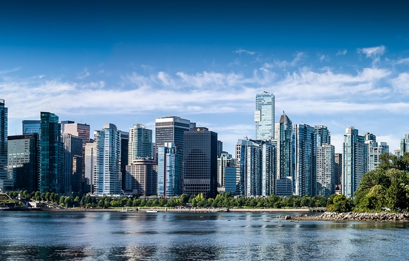 Picture building, Canada, panorama, Vancouver, Canada, British Columbia, Vancouver, British Columbia