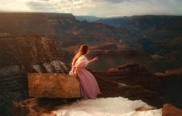 Picture girl, rocks, stone, dress, TJ Drysdale