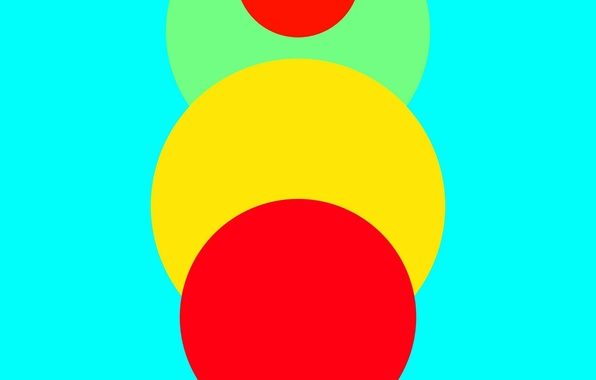 Picture Android, Red, Circles, Blue, Green, Design, 5.0, Line, Yellow, Lollipop, Abstraction, Material