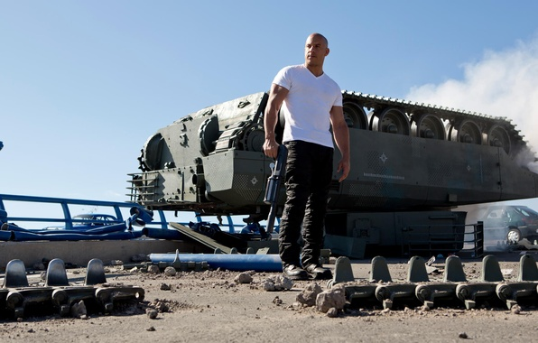 Picture the sky, the film, tank, actor, VIN Diesel, Vin Diesel, Dominic Toretto, Fast and furious …