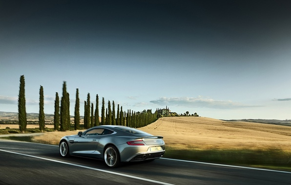 Picture machine, auto, movement, Aston Martin, speed, beauty, power, Vanquish, perfection