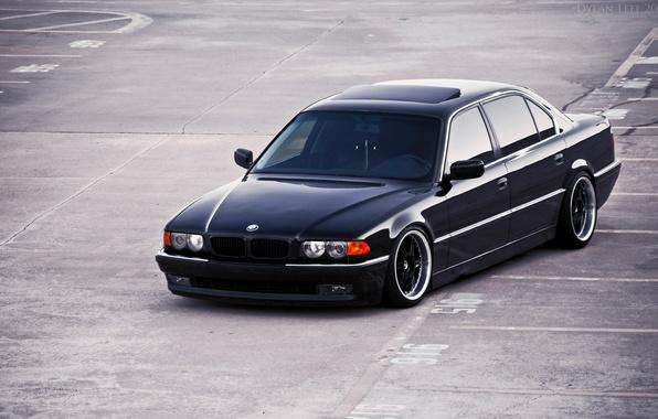 Picture bmw, black, 740