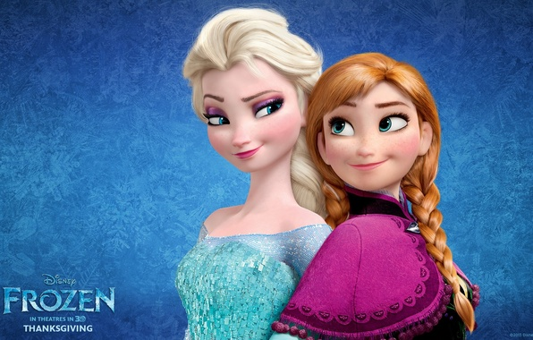 Picture cartoon, Frozen, Disney, Anna, Anna, sisters, Princess, Princess, sisters, Elsa, Elsa, Snow Queen, Cold heart
