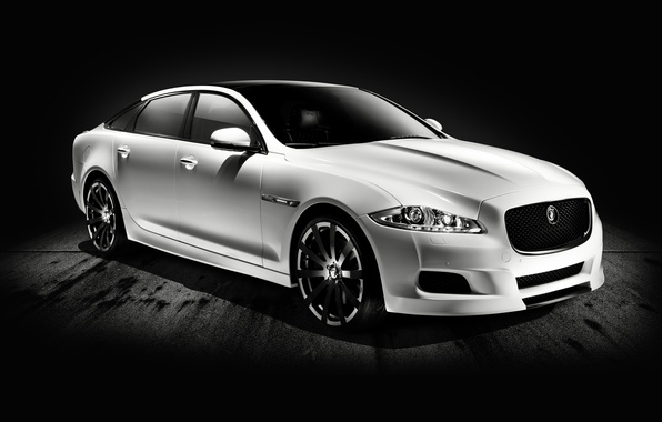Picture Jaguar, White, Car, Car, The front